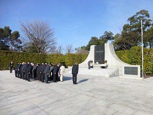 横 靖国当神社等月例参拝
